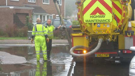 Paul Cherry has praised highways workers for their response to flooding in Whomerley Road, Stevenage
