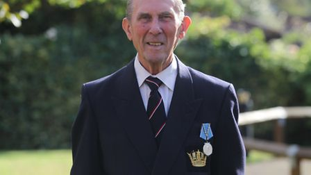 Cliff Potter pictured with this Arctic Medal