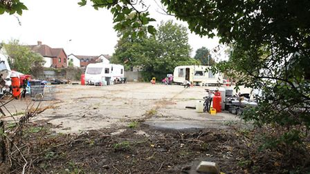 Travellers on Icknield Way in Letchworth