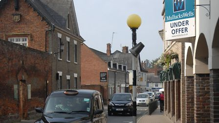 Hill Street, Saffron Walden, where Domino's was hoping to open a pizza takeaway.