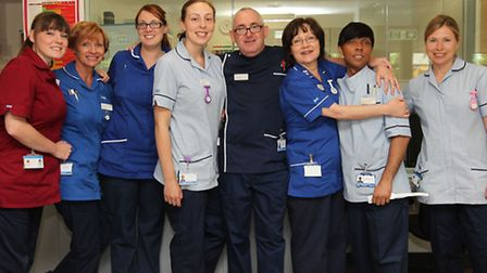 Nurses and Healthcare assistants in the new Macmillan Cancer Centre