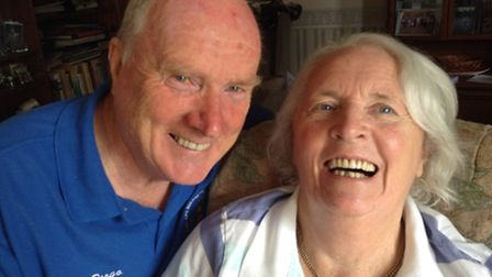 Colin and Sylvia are celebrating their 50th wedding anniversary