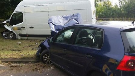All lanes on the A505 between Baldock and Royston have reopened following a two-car crash at around