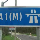 A two-vehicle crash on the A1(M) caused significant tarffic problems this morning.
