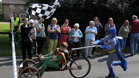 Hundreds of people turned out for the Duxford Soap Box Derby at the weekend. Pictures: Jamie Pluck