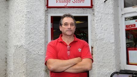 Robert Middleton pictured at the Post Office in Willian