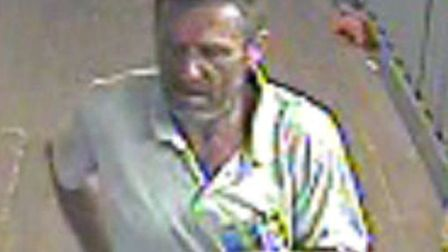 A CCTV image showing Terry Emberson at Stevenage railway station