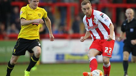 Charlie Lee in action against Burton Albion. Photo: Harry Hubbard