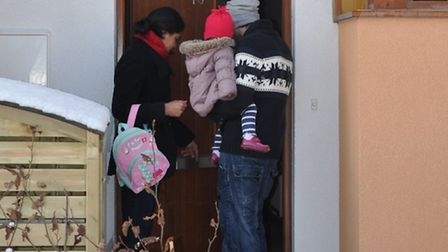 A young family moves into a North Hertfordshire Homes property.