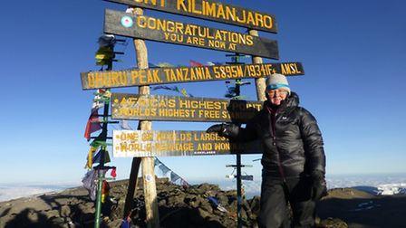 Adele reached the summit at 6.40am on Thursday, October 16.
