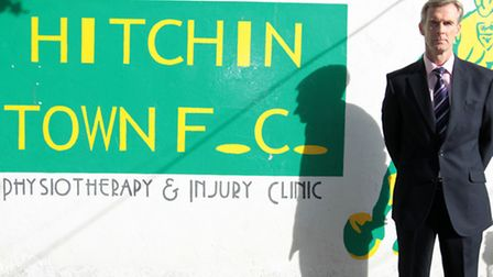 Hitchin Town FC chief executive Andy Melvin, who has launched a fighting fund