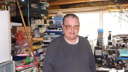 Wilfred James is his Letchworth home before the clean-up operation