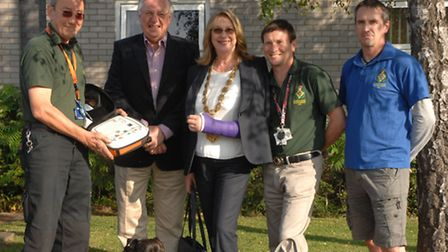 Saffron Walden Community First Responders came to the Mayor's rescue within minutes of her fall. Fro