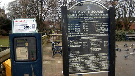 Councillor Cunningham spoke at a public meeting to discuss parking charges in Hitchin