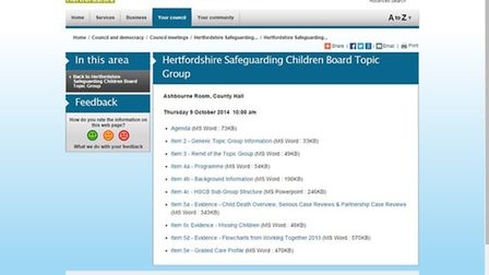 On Monday councillors will discuss investing £1m into a new website for Hertfordshire County Council