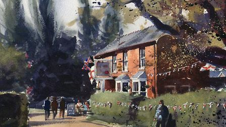 Art by Weston watercolour expert and architectural illustrator Keith Hornblower