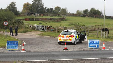 Police have closed Ashbrook Road near St Ippolyts following the crash