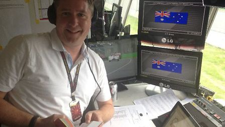 David Croft in the commentary box for Sky Sports