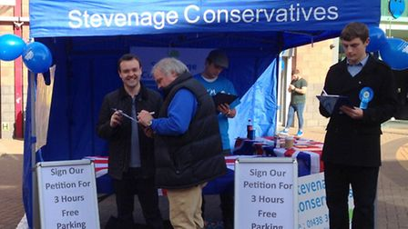 Stevenage MP Stephen McPartland invited people to sign the petition on Saturday