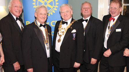 Some of the Rotary dignitaries who were on the guest list on the night