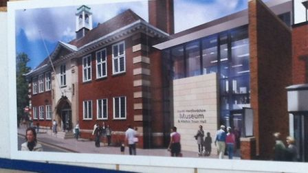 Artist's impression of what development will look like, posted on hoardings at the site.