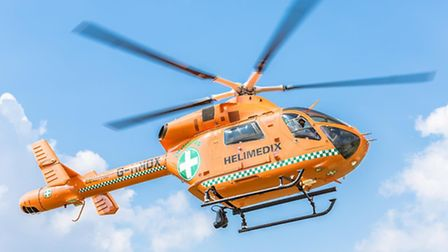 The man was airlifted to hospital by the Magpas air ambulance.