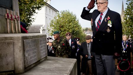 Saffron Walden fell silent on Sunday as a mark of respect to those who gave their lives in the two w