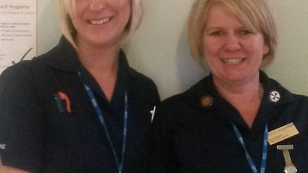 Macmillan lung cancer clinical nurse specialists Elaine Dockree and Patricia Swann