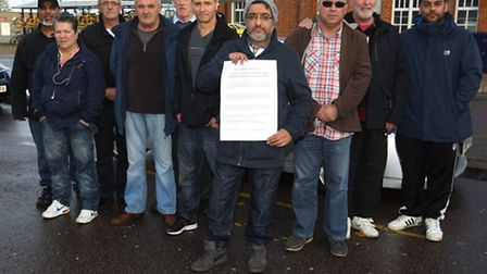 Muktar Thind and owners and drivers of North Herts Taxis