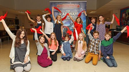 The children from Box of Frogs Theatre in Letchworth who are starring in The Railway Children produc
