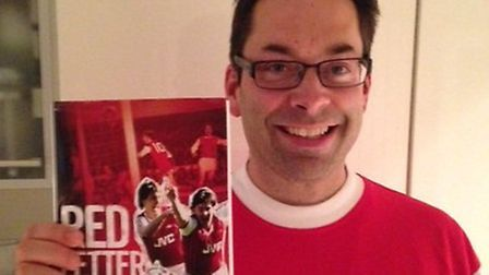 Arsenal author Jon Spurling who will be signing copies of his new Gunners book Red Letter Days in Wa