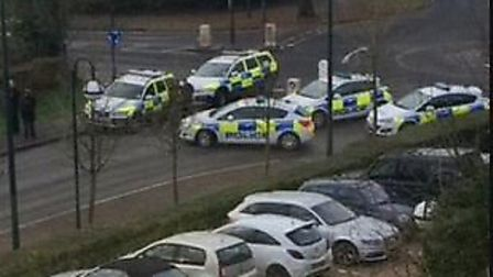 A man has been charged following a stand-off with police outside the Spirella Building in Letchworth