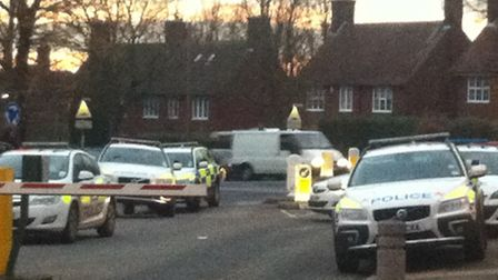 Police were called to the Spirella Building car park at about 2.15pm.