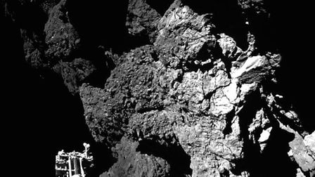 The comet that the probe landed last Wednesday,