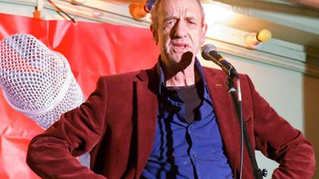 Comic Arthur Smith at Stand Up for Labour at Westmill Community Centre. Photograph: Simon Maddison.