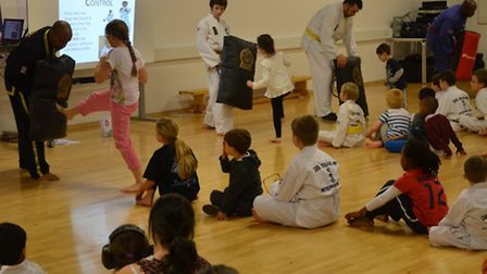 An anti-bullying workshop was held at Marriotts Sports Centre in Stevenage by Chells Choi Kwang Do S