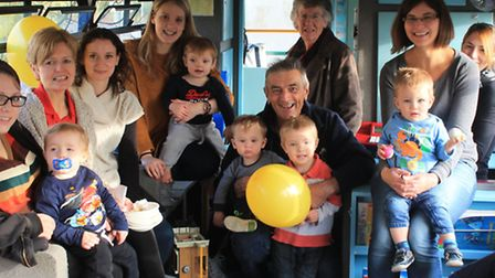 A large number of parents and toddlers turned out to celebrate 20 years of Buffy Bus.