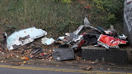 The scrap metal near to Hitchin station