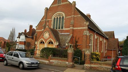 Residents are opposing a planning application to build a café on the side of a church in Basils Road