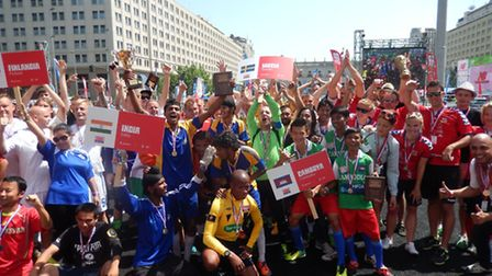 Fans and teams at the Homeless World Cup in Santiago Chile