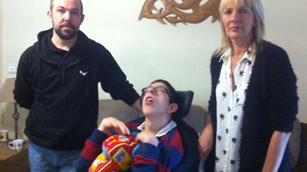 Tony and mum Elaine are appealing for donations to get a new motor