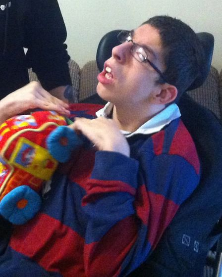 James Trezza is unable to walk or talk and is cared for by his mother Elaine full-time.