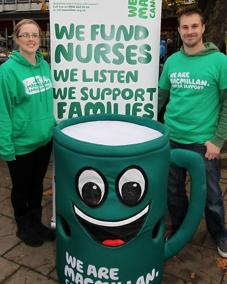 Frances Ward-Powell and Mark Smith from Macmillan Cancer Support