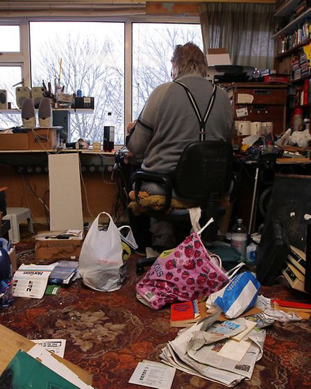 Wilf James clears his belongings after being evicted after 51 years in his flat