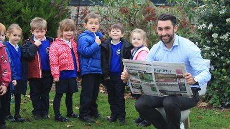 Year Three and Four teacher Tom Wade leads by example as RA Butler pupils raise money to fund a scho