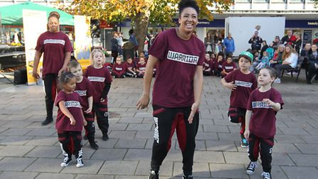 The Warriorz dance group perform