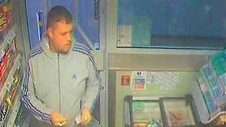 Police would like to speak to this man in connection with the burglaries. This picture was taken in