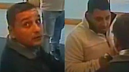 Police want to speak to these two men in connection with the theft.