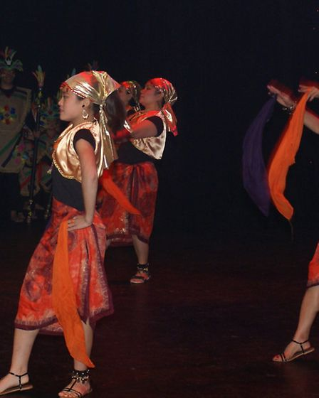 Filipino Traditional Folk Dancers performed at the event