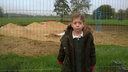 Rebecca Summers left 'sad and upset' at the halting of work on the children's play area on Walsworth